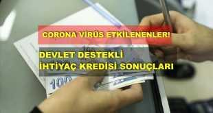 Corona Virüs Etkilenenler, Devlet destekli, ihtiyaç kredisi sonuçları