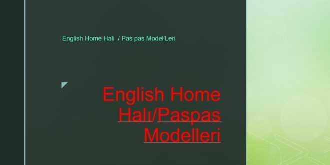 English Home Halı/Paspas Modelleri